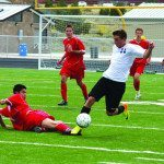 Boys soccer squad splits pair of games