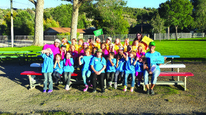 Three troops of girls scouts recently had a backyard camp out at Broadbent Park. (Courtesy photo)