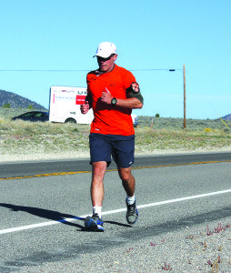 Don Lennox visited Ely in his cross-country run to raise money for the Wounded Warrior Project. (Lukas Eggen photo)