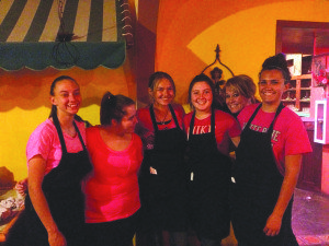 The White Pine High School student council put on a fundraiser at Margaritas to raise money for the Ely Breast Cancer Fund. (Courtesy photo)