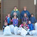 Girl Scouts clean up