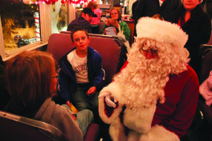 The Nevada Northern Railway's Polar Express trains offers children a chance to meet Santa. (File photo)