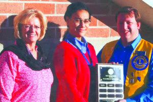 From left, David E. Norman Principal Rebecca Murdock, Tali Vinson and Stephen Bishop. (Courtesy photo)