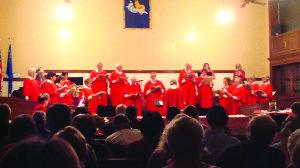 The White Pine Community Choir sings songs of Christmas to a capacity      audience at the Centennial Fine Arts Center Sunday night. (Garrett Estrada photo)