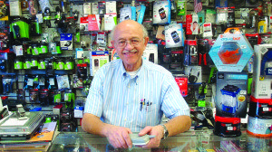 George Chachas owns and operates the Radio Shack in downtown Ely. (Garrett Estrada photo)