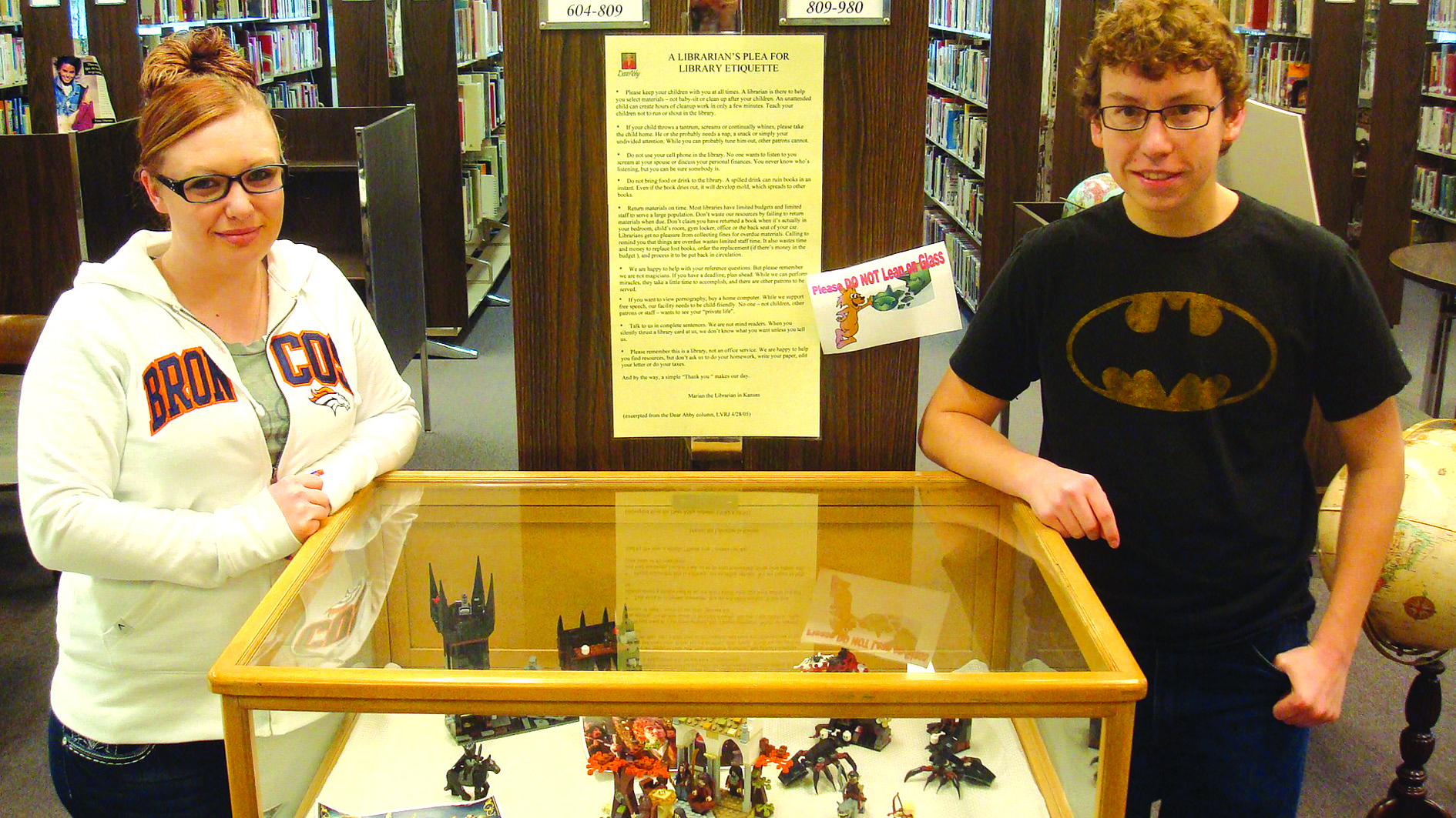Lego display at Library1