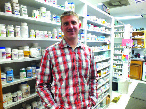 Andy Bath is the head pharmacist at Economy Drug. (Garrett Estrada photo)