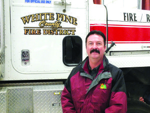 Brett Waters, the new fire chief for White Pine County, started his job on Monday. (Garrett Estrada photo)