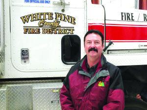 Brett Waters, the new fire chief for White Pine County, started his job on Monday. (Garrett Estrada photo)