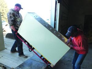 NV Energy delivers donated office equipment to White Pine County. (Garrett Estrada photo)