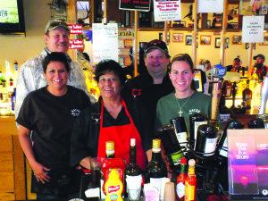The staff at Racks enjoy the quieter tone of the smoke-free bar and grill. (Garrett Estrada photo)