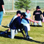 Baseball team loses road double-header