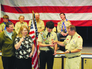 Brigham Poplin recently received his Eagle Scout from Boy Scout Troop 71 on March 5. (Garrett Estrada photo)