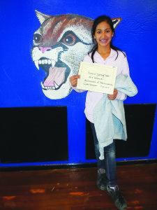 Fifth grade winner: Mia Kemmler