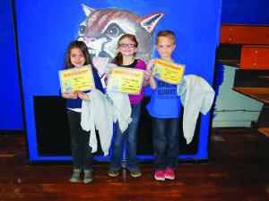 First Grade winners: Megan Dunn, McKenna Barney & Timothy Baker.