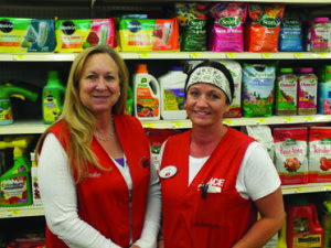 Garrett Estrada Photo Sadie McVicars and Heather Peterson from the Lawn and Garden section at Ace Hardware say that it's time to start getting materials and soil ready for a beautiful spring garden.