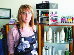 Images Stling Salon owner Melanie takes hair appointments every Friday and every other Saturday.