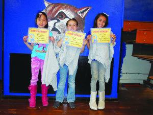 Second Grade Winners: Katie Shen, Jaycee Harber, Naima Kaamasee.