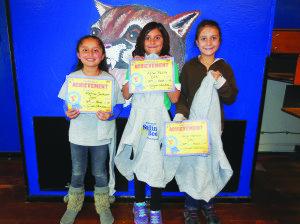 Third grade winners: Anja Hansen, Allison Padilla, Katrina Soutcott