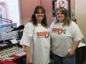 "Garrett Estrada Photo KDSS 92.7 FM President and Owner Karen Livingston poses with her co-host Jodi McShane. May 1 will mark the 18-year anniversary of her parent's company ""Coates Broadcasting"" buying the radio station. ."