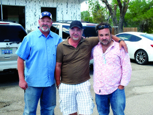 """Garrett Estrada Photo The three men behind the new reality television show """"Small Ton Mayor"""" from left to right: Producer Robert Warren, Director Sean Stanek and the show's Creator and Executive Producer Alby Lombardo. If the show gets picked up by a network it could be on air in seven months."""