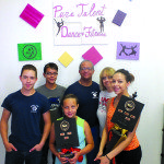The Mabsons at the Pure Talent Dance Studio from left to right: Justin, Jay, Angela, Mark, Karen and Alexandria Mabson. (Garrett Estrada Photo)