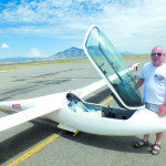 Hungarian pilot Janos Sindely has traveled from across the world to visit Ely since 2003 to try and set national records in his glider. Sindely came from China this year to compete against other international pilots at the Ely airport. Garrett Estrada Photo