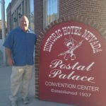 John Gaughan stands in front of the Postal Palace in Ely, one of the properties the Gaughan family acquired alongside the Hotel Nevada in February. Garrett Estrada Photo