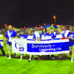 Garrett Estrada Photo Cancer survivors walked the first lap around Broadbent Park Friday night to kick off the 18-hour Relay for Life cancer fundraiser.