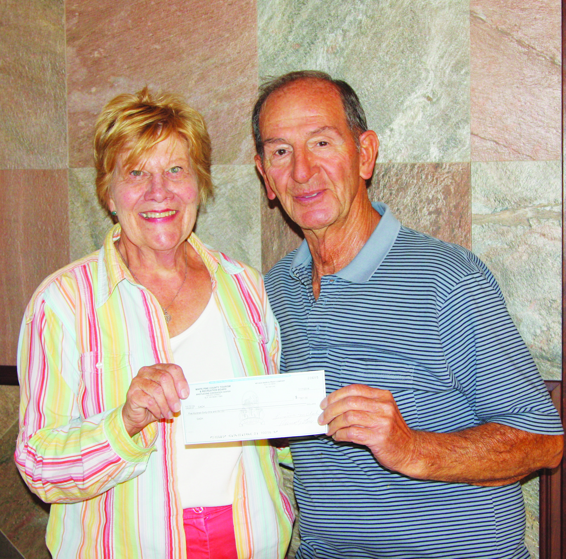 CACH receives check