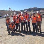 A delegation of the Polish consulate pose with Polish miners at the Robinson Mine. (Garrett Estrada photo)