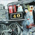 A painting by local artist Darl Clark shows locomotive engine 40 at NNRY. (Courtesy photo)