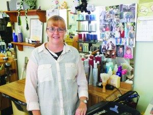 Lori Hunt used to operate a salon out of her house in McGill before opening Stylized Hair Designs Plus in 1987. (Garrett Estrada photo)