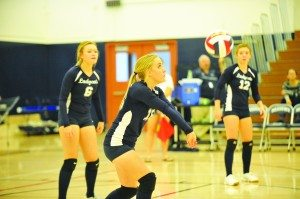 Brittany Carson passes the ball during a game against The Meadows. (BJ Almberg photo)