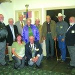 Pictured from left to right: NSEA Vice-President William Wiseman, NSEA State President Lee Butts, Wiley Brooks, Life Member Lee Epperson, Neil McKnight PER Romolo DiCianno, PER Kelly Brown, Exalted Ruler Sid Beckwith, Susie Francis and PER Robert Marcum. (Ken Curto photo)