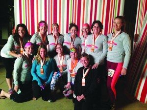 The group of 12 women that participated in this year's Ragnar Relay Race in Las Vegas were: Heather Ferrari, Angelica Robison, Barbara Smith, Erica Husse, Jennifer Castllano, Jenny Ahlvers,  Kristy Sedlacek, Leigh McOmber, Leslie Derbidge, Lindy Walsh, Salli McDermott and Tiffany Swetich. (Courtesy photo)
