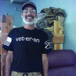 Desert Storm Army veteran Robert Rudy stopped by Ely's VFW as part of his walk across the country to raise awareness for homeless veterans. (Courtesy photo)