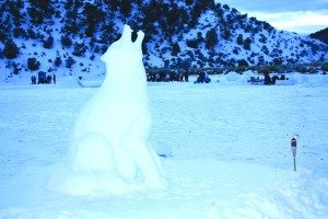 Snow sculptures are a big part of the annual Fire and Ice event but can also be very heavy and dangerous on thin ice.  (Courtesy photo)