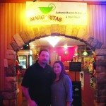 Owners of Margarita's Jorge and Margarita De La Cerda stand in front of their restaurant's new entrance in the Prospector Hotel.