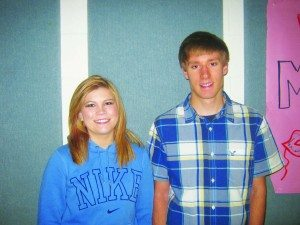 February students of the month Nathaniel Lee and McKenzi Wilkin.
