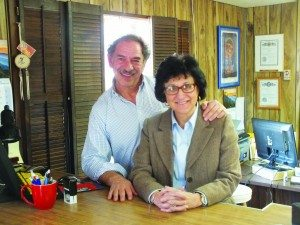 John Chachas has worked alongside his wife Irene for more than two decades in their Farmer's Insurance office.  (Garrett Estrada photo)