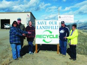 Pictured left to right: Linda Bachmeier, Gary Tull, Tammy Carlgren, Thomas Lawrence and Melody Van Camp. (Garrett Estrada photo)
