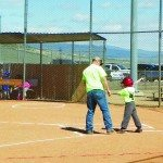 McKenna Barney steps up to the plate to bat in a Little League game.   (Teresa Stewart photo)