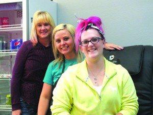 Untamed Optionz staff pictured from left to right: LaRinda Archambault, Tanaca Stokes and Breeann Christensen. (Garrett Estrada photo)