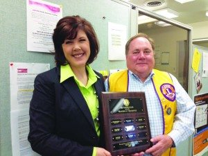 Holly Marich receives the honor of being the Ely Lion's Club Teacher of the Month.  (Courtesy photo)