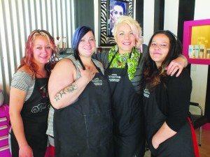 The Beauty Bar staff from left to right: Kanisha Taylor, Jenny Dawson, owner Bonnie Noel and Bobbi Barela.  (Garrett Estrada photo)