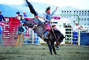 White Pine Rodeo Club's Paul Sonerholm took fourth place in Saddle Bronc Riding at last year's state rodeo finals to move on to nationals.  (Jason Romans photo)