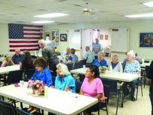 Seniors gather to eat lunch every day inside the Senior Center. Meals are also delivered straight to the houses of seniors. (Garrett Estrada photo)