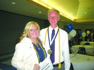 Ken Curto photo Ely Elks Lodge Students of the year Jane Murdock and Christopher Young.