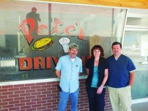 Pictured from left to right: Silver State Restaurant owner Don Griffiths, Karri Bath and Jason Bath. (Garrett Estrada photo)
